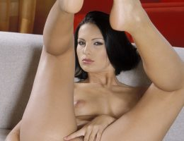 Mili Jay Toys Her Pussy With A Glass Dildo